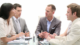 International Business People In A Meeting stock footage