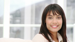 Portrait of a smiling ethnic businesswoman Footage