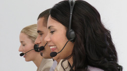 Business people working hard in a call centre Footage