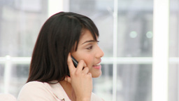 Charismatic young businesswoman on phone Stock Video Footage