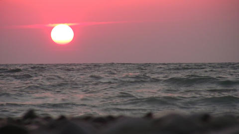 red sea sunset Stock Video Footage