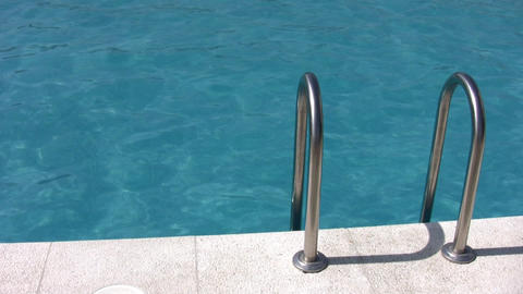water pool and banister Stock Video Footage