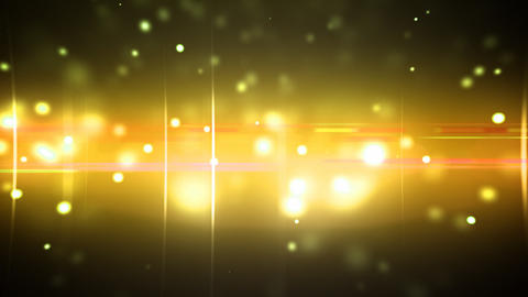 Particles and optical flares gold loop Animation