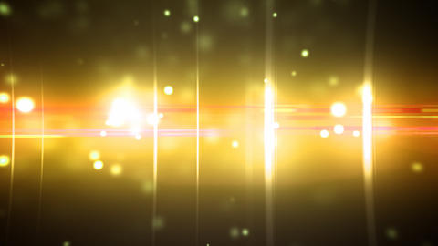 Particles and optical flares gold loop Stock Video Footage