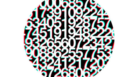 Random Confused Numbers HD Loop Animation