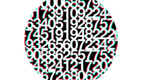 Random Confused Numbers HD Loop Stock Video Footage