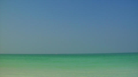 Jumeirah beach pan with Burj al Arab Stock Video Footage
