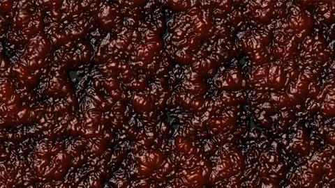 Boiling marmalade jam like blood - Food - Halloween - Backgrounds - Loopable Animation