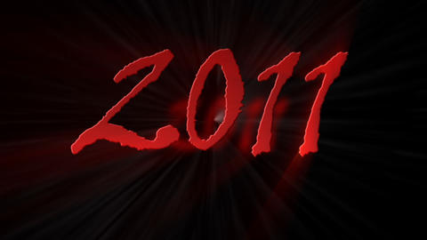 Happy New Year 2010 to 2011 explosion - Holiday -… Stock Video Footage
