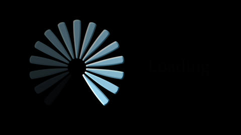 Computer loading icon on black background - Loopable -... Stock Video Footage