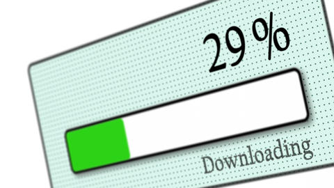 Download bar downloading on white background - Downloaded - Technology - Computers Animation