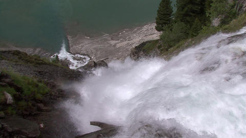 FX transition Zoom into Waterfall slowly Footage