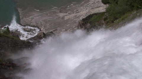 FX transition Zoom into Waterfall slowly Stock Video Footage