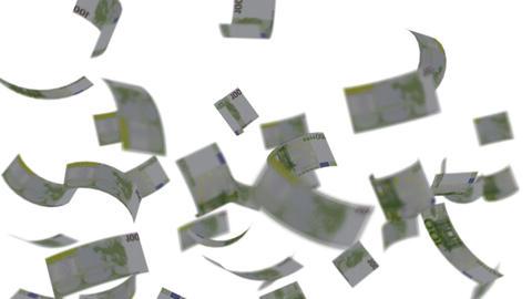 Euro banknotes falling like rain - Wealth - Finance -... Stock Video Footage