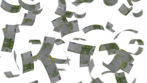 Euro banknotes falling like rain - Wealth - Finance -... Stock Video Footage