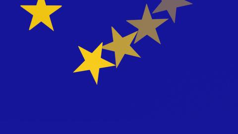 European Union Flag - Spinning Stars - Banner - Background Animation