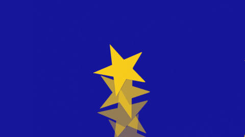 European Union Flag - Spinning Stars - Banner - Background Stock Video Footage