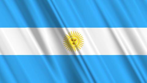 ArgentinaFlagLoop01 Stock Video Footage
