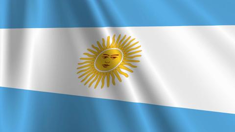 ArgentinaFlagLoop03 Stock Video Footage