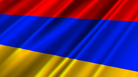ArmeniaFlagLoop02 Stock Video Footage