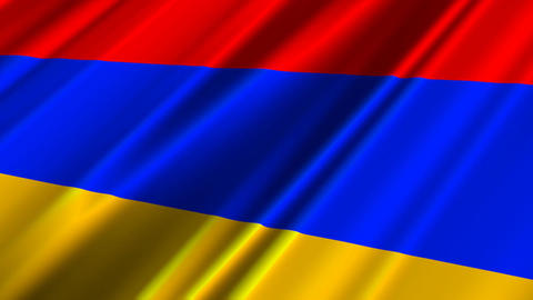ArmeniaFlagLoop02 Stock Video Footage