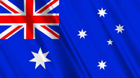 AustraliaFlagLoop01 Stock Video Footage