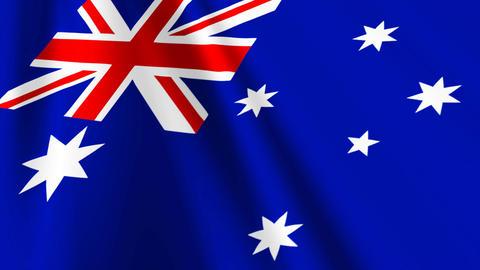 AustraliaFlagLoop03 Stock Video Footage