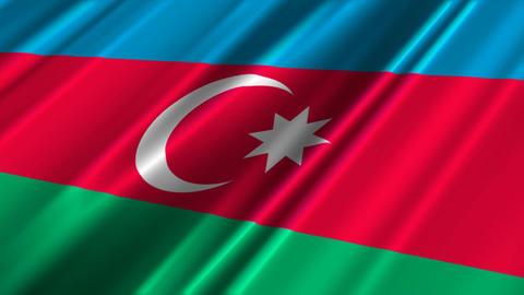 AzerbaijanFlagLoop02 Stock Video Footage
