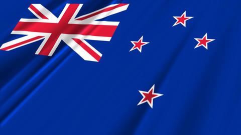 NewZealandFlagLoop02 Stock Video Footage