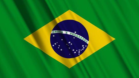 BrazilFlagLoop01 Stock Video Footage
