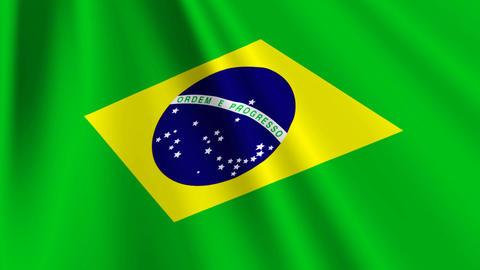 BrazilFlagLoop03 Stock Video Footage