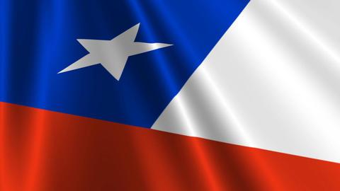 ChileFlagLoop03 Stock Video Footage