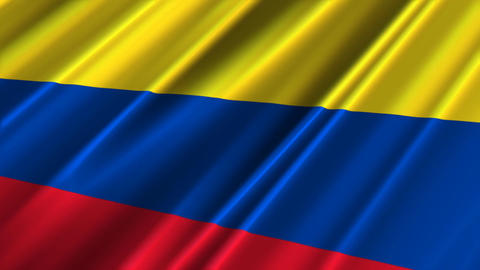 ColombiaFlagLoop02 Stock Video Footage