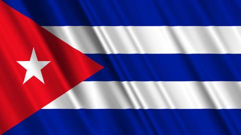 CubaFlagLoop01 Stock Video Footage