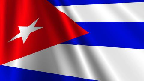 CubaFlagLoop03 Stock Video Footage