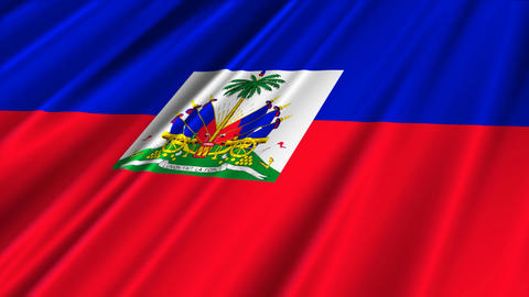 HaitiFlagLoop02 Stock Video Footage