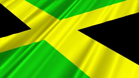 JamaicaFlagLoop02 Stock Video Footage