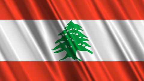 LebanonFlagLoop01 Stock Video Footage