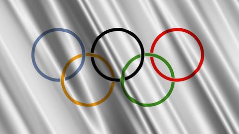 OlympicsFlag Stock Video Footage