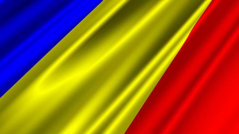 RomaniaFlagLoop02 Stock Video Footage