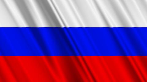 RussiaFlagLoop01 Stock Video Footage