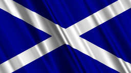 ScotlandFlagLoop01 Stock Video Footage