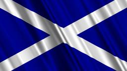 ScotlandFlagLoop01 Stock Video Footage