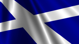 ScotlandFlagLoop03 Stock Video Footage