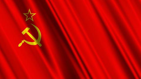 SovietFlagLoop01 Stock Video Footage