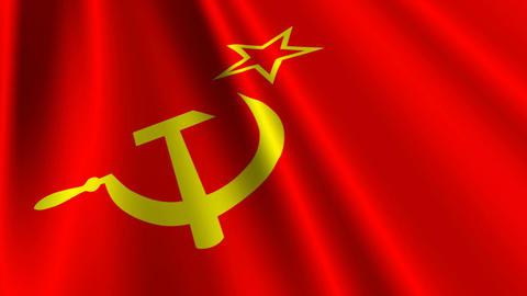 SovietFlagLoop03 Stock Video Footage