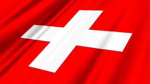 SwitzerlandFlagLoop02 Stock Video Footage