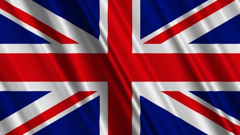 UKFlag01 Stock Video Footage