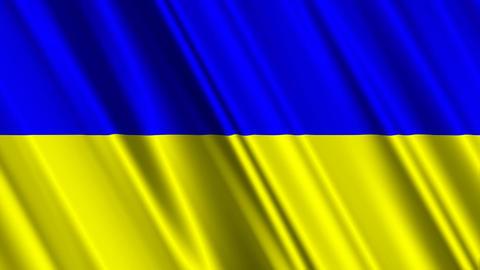 UkraineFlagLoop01 Stock Video Footage