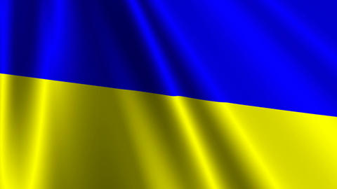 UkraineFlagLoop03 Stock Video Footage